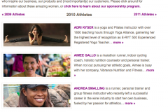 One of 10 Featured Atheletes for Athleta Clothing Company - 2010