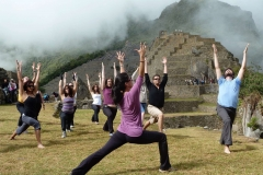Teaching some Surya Namaskars in Machu Picchu!