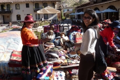 Shopping at Pisac Market