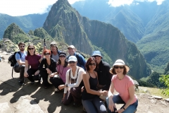 Part of the group on a hike in Machu Picchu