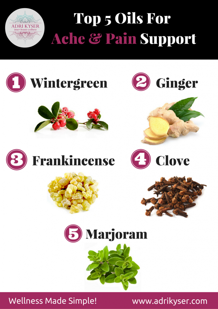 Top 5 Essential Oils For Ache and Pain Support   Adri Kyser